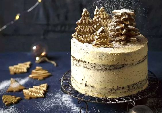 快手3步快速完成圣诞蛋糕