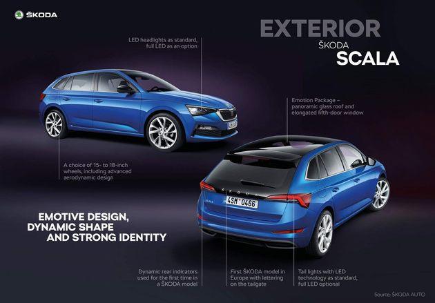 斯柯达SCALA官图发布 全新的设计元素