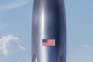 马斯克晒星际飞船BFR概念图 今年进行亚轨道试飞