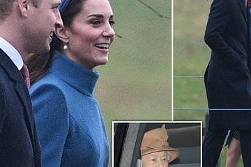 凯特王妃新年复工再穿旧衣获掌声!光腿穿大衣脸冻僵还得强忍着笑