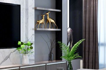 现代轻奢风格家装效果,大面积使用高级灰,小区邻居都想来参观