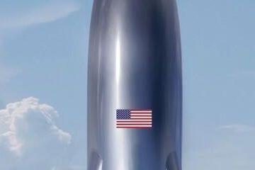 """马斯克曝光SpaceX最新飞船概念图 网友:""""好大一颗子弹"""""""