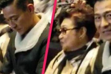 刘德华取消演唱会后首次公开露面 陪白雪仙看粤剧状态佳