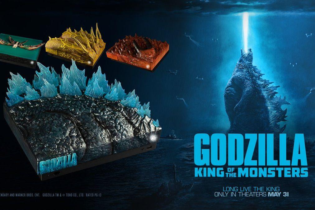 Xbox推出四款《哥斯拉2:怪兽之王》主题限量主机