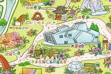 城市花博会手绘地图发布