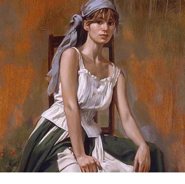 美国艺术家人体油画中的性感少妇,给人以美的享受